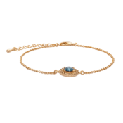 Lily and Rose - Armband Miss Miranda Golden Blue