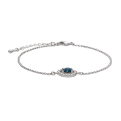 Lily and Rose - Armband Miss Miranda Silver Blue