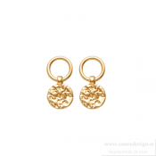 Dansk - Amber Simple Earring Guldpläterade