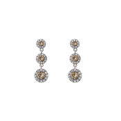 Lily and Rose - Petite Sienna Earrings Diamond Grey
