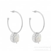 BUD TO ROSE - Devious Pearl Hoop Earring Stål