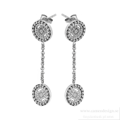 Ingnell Jewellery - Steffie Coin Earrings Steel