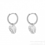 BUD TO ROSE - Palmleaf Hoop Earring Stål
