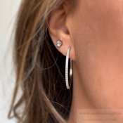 BUD TO ROSE - Ice Earring Stål