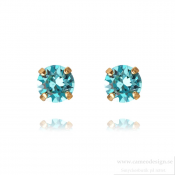 Caroline Svedbom - Classic Stud Earrings / Light Turquoise Guldpläterat
