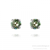 Caroline Svedbom - Classic Stud Earrings / Chrysolite Rhodiumpläterade