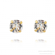 Caroline Svedbom - Classic Stud Earrings / Crystal Guldpläterat