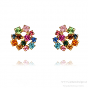 Caroline Svedbom - Kassandra Earrings / Rainbow Combo Guldpläterat