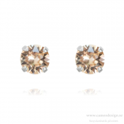 Caroline Svedbom - Classic Stud Earrings / Silk Rhodiumplätering