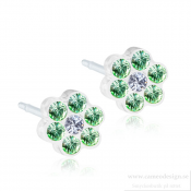 Blomdahl - MP Daisy 5 mm, Peridot/Crystal