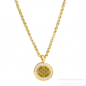 Ingnell Jewellery - Steffie Coin Necklace Mini Cz Gold