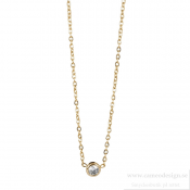 astrid & agnes - Lilly Necklace Gold 4 mm