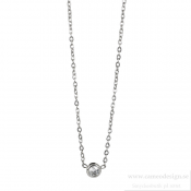 astrid & agnes - Lilly Necklace Steel 4 mm