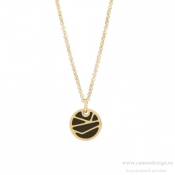 BUD TO ROSE - Rose Enamel Short Necklace Black/Gold
