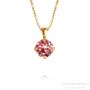 Caroline Svedbom - Classic Petite Necklace / Light Rose 18 Karat Guldplätering