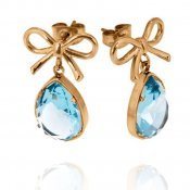 INGNELL JEWELLERY - Molly Earrings Gold/Aqua