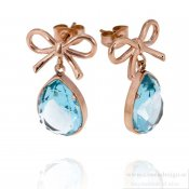 INGNELL JEWELLERY - Molly Earrings Rose Gold/Aqua