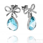 INGNELL JEWELLERY - Molly Earrings Steel/Aqua
