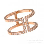INGNELL JEWELLERY - MANHATTAN RING ROSE GOLD