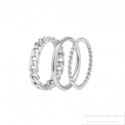 BUD TO ROSE - Chain Trio Ring Steel