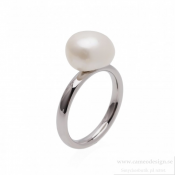 BUD TO ROSE - Pearl Ring Steel