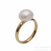 BUD TO ROSE - Pearl Ring Gold