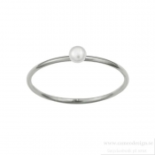 EDBLAD - Perla Mini Ring Pearl Steel
