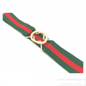 Just d´lux - Elastic belt Green/Red
