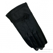 Just d´lux - Gloves Leather Bowtie Black