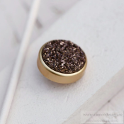 Altavario - Coffee Druzy Stone 12 mm Bronze