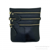 Just d´lux - Bag Leather Zippers Black