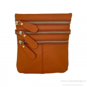 Just d´lux - Bag Leather Zippers Cognac
