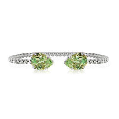 Caroline Svedbom - Mini Drop Bracelet / Chrysolite Rhodium