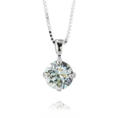 Caroline Svedbom - Petite Stud Necklace / Light Azure Rhodium