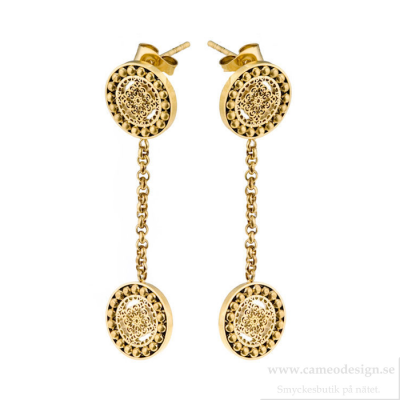 Ingnell Jewellery - Steffie Coin Earrings Gold