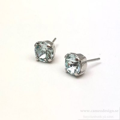 Caroline Svedbom - Petite Stud Earrings / Light Azore Rhodium