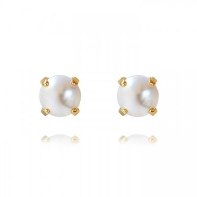 Caroline Svedbom - Classic Stud Earrings / Pearl Gold