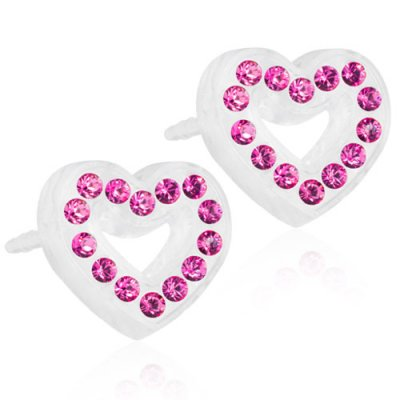 Blomdahl - Brilliance Heart Hollow, 10 mm Rose
