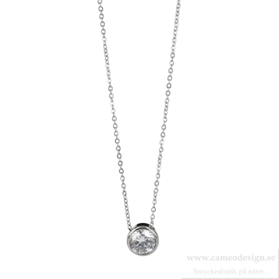 astrid & agnes - Lilly Necklace Steel 7 mm