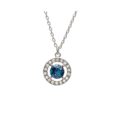 Lily and Rose - Miss Miranda Necklace – Silver Blue