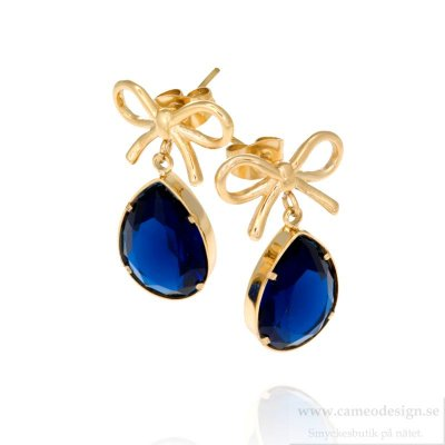 INGNELL JEWELLERY - Molly Earrings Gold/Blue