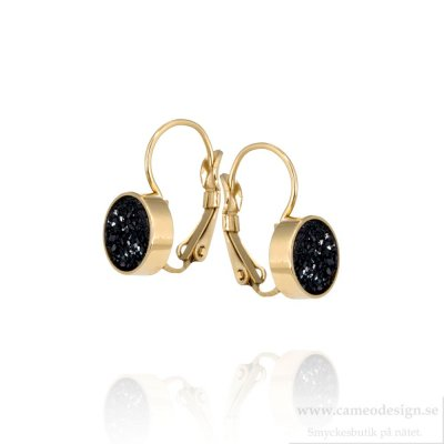 INGNELL JEWELLERY - Iza Earrings Gold Black