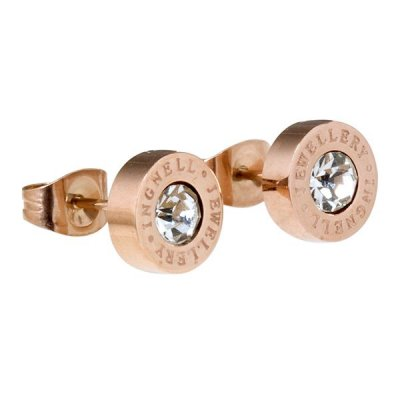 INGNELL JEWELLERY - ELLIE STUDS ROSE GOLD