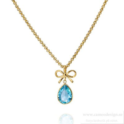 INGNELL JEWELLERY - Halsband Molly Necklace Gold/Aqua