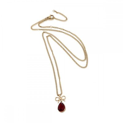INGNELL JEWELLERY - Molly Necklace Long Gold/Red