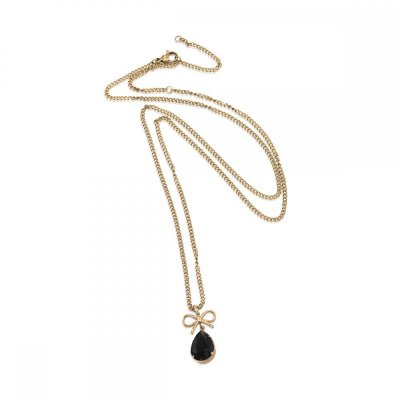 INGNELL JEWELLERY - Molly Necklace Long Gold/Black