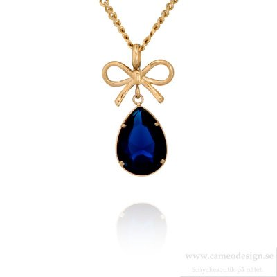 INGNELL JEWELLERY - Molly Necklace Long Gold/Blue