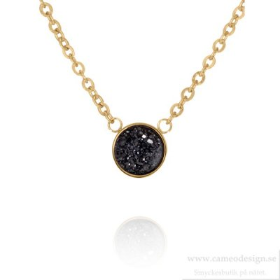Ingnell Jewellery - Iza Necklace Gold/Black