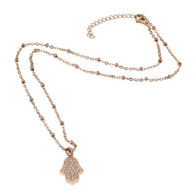 INGNELL JEWELLERY - LAILA NECKLACE ROSE GOLD