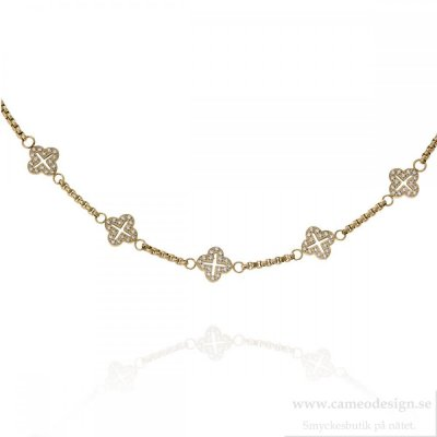 Ingnell Jewellery - Saga Necklace Short Gold